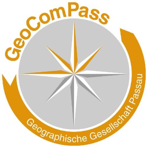 GeoComPass - Logo mit Hintergrund