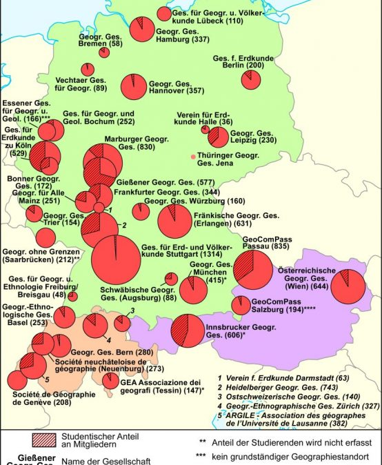 Geographische Gesellschaften in Deutschland, Österreich und der Schweiz